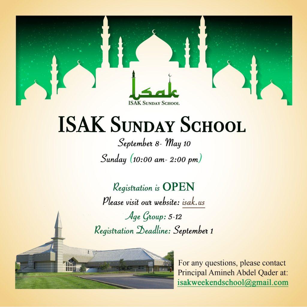 ISAK Sunday school 2019-2020 – Islamic Society of Akron and Kent